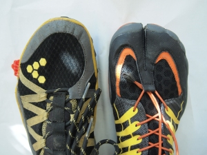 Little toe - Vivobarefoot vs ZEMgear trail running shoes