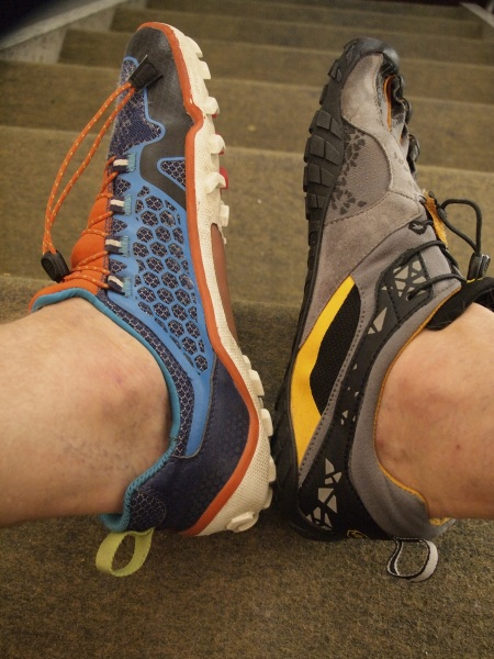 Vivobarefoot Trail Freak vs Vibram Fivefingers Spyridon MR
